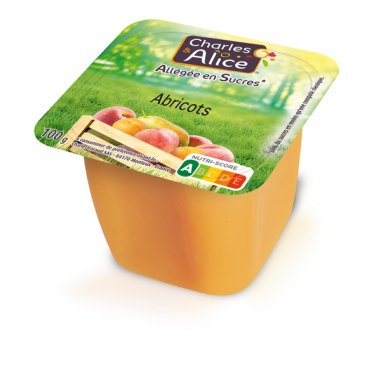 Compote d'abricot allegee en coupelle 100 g CHARLES ET ALICE - 0019512 - EpiSaveurs - Grossiste alimentaire
