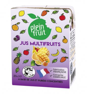Jus multi-fruits en briquette 20 cl PLEIN FRUIT - 0018227 - EpiSaveurs - Grossiste alimentaire