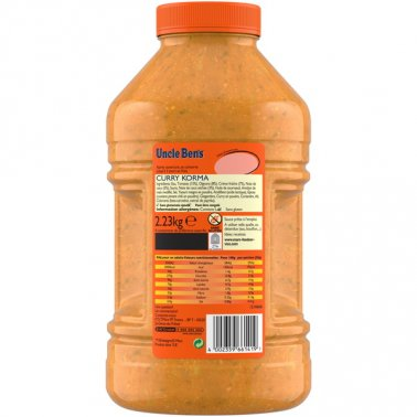 Sauce curry korma en bidon 2,23 kg UNCLE BEN'S - 0067328 - EpiSaveurs - Grossiste alimentaire