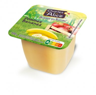Compote pomme-banane allegee en coupelle 100 g CHARLES ET ALICE - 0019046 - EpiSaveurs - Grossiste alimentaire