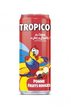 Tropico pomme-fruits rouges en cannette slim 33 cl TROPICO - 0210672 - EpiSaveurs - Grossiste alimentaire