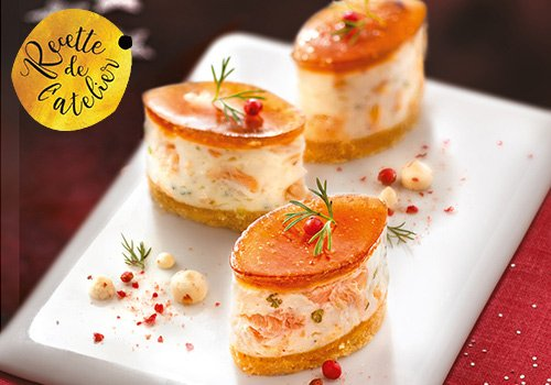 Mini cheesecake au saumon, chutney de figues en gelee - 200361 - EpiSaveurs - Grossiste alimentaire
